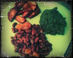 Kidney beans, apples, pureed kohlrabi