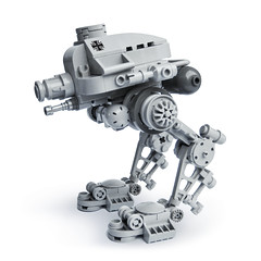 B-5 KriegsLufer (Fredoichi) Tags: robot lego space military walker micro mecha mak mech maschinenkrieger microscale dieselpunk fredoichi