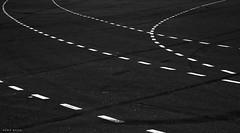 Road Rage (Chip Gylfe) Tags: road blackandwhite bw tarmac blackwhite asphalt