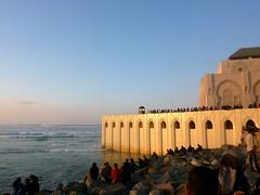 Sunday prayer (Ricardo Dinis) Tags: sunset people mosque morocco ii casablanca hassan hassanii