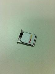 true SIM card on GEVEY SIM Tray
