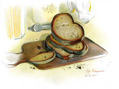 pane antico frascatano (prokopenko olga) Tags: pencils drawing coloured penciles