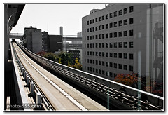 Tokyo in Japan. Free photo for your blog or website. (photo-555.com) Tags: building japan architecture subway tokyo asia asien rail vehicle  asie skytrain japon giappone japn   ferroviaire northeastasia northeasternasia asiedunordest vhiculevehicule photo555com elnorestedeasia nordestasiatico nordostasien metroaerienmtroarien metromtro