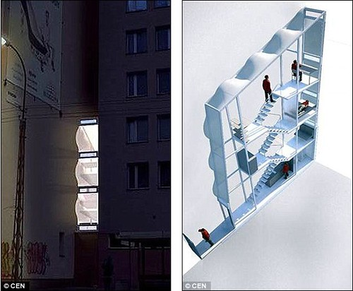World's narrowest house which is crammed into an alleyway is just 60 INCHES wide and hasn't even got room for stairs 2