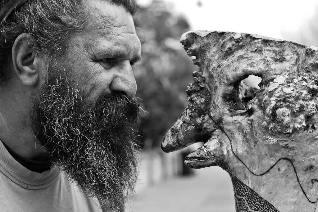 "J62 / Meet a Stranger : an Aborigines and his ""Emu"" didgeridoo"