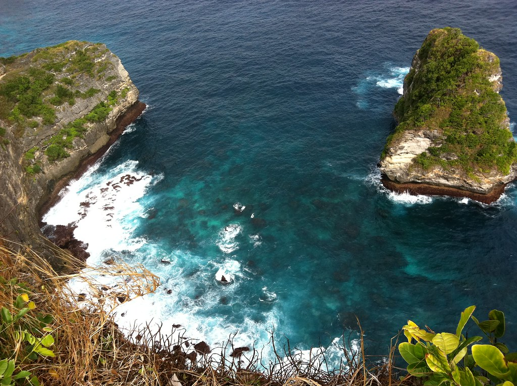 Looking down from Banah Cliff, Nusa Penida, Indonesia