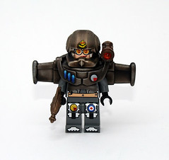 RAF 100th Steamsuit Squadron (JasBrick) Tags: lego steam suit rocket minifig custom raf steampunk brickarms