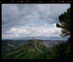 R08F02 (s.kunstadt) Tags: travel vacation italy color 120 film tourism rock mediumformat town italia fuji sightseeing rangefinder medieval mf analogue 6x7 negatives viterbo 67 rf la