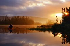kayaking at sunrise, pittsburg, nh (andrew c mace) Tags: canada sunrise kayak newhampshire peaceful kayaking wilderness bog pittsburg nikoncapturenx nikkor35mm nikond90 eastinlet
