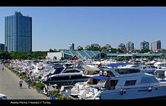 Elegant Ataköy Marina// With the Sheraton Hotel Stretching High into the Blue Sky// Istanbul// Turkey