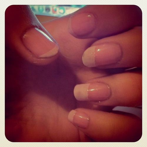 My first attempt at French manicure!