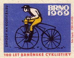 'Boneshaker' races (oliver.tomas) Tags: 1969 sports illustration print cycling graphicdesign czech ephemera brno solo 1960s czechoslovakia slovak matchboxlabels lipnik worldcyclingchampionships