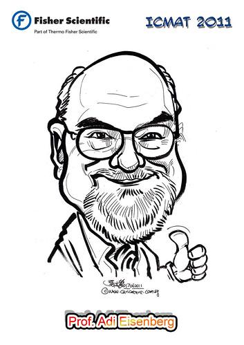 Caricature for Fisher Scientific - Prof. Adi Eisenberg