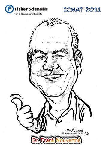 Caricature for Fisher Scientific - Dr. Frank Nouvertné