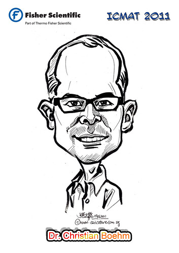 Caricature for Fisher Scientific - Dr. Christian Boehm