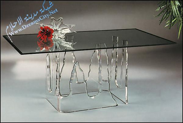 طاولات زجاج فخمه 2012 ديكورات 2012