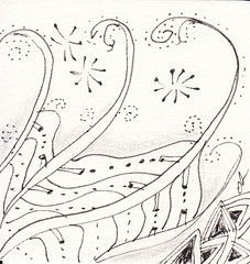 05-18-2011 (Blind Squirrel Photo Safari) Tags: art tile drawing hobby doodle tangle zentangle