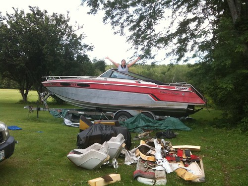 1985 chris craft scorpion 230 restoration