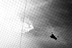 deurne_2011_04_26-10 (Manual The Reading F.) Tags: sky bw white black net grid shoe nikon pattern mesh zwart wit zw d5000