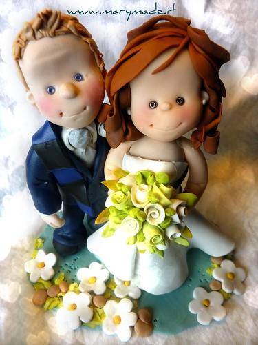 Il Cake Topper di Laura M e suo marito Tifoso dell'INTER