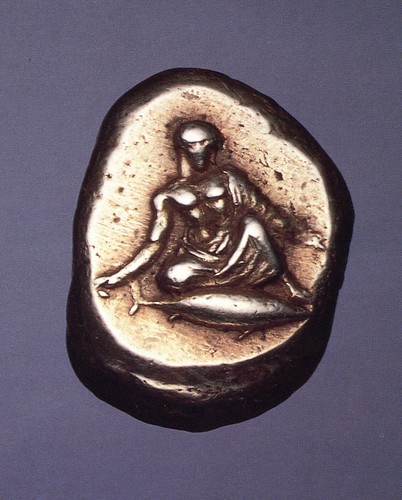 An Excessively Rare Greek Electrum Stater of Kyzikos (Mysia), a Rare Depiction of Gambling