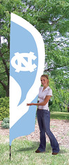 North Carolina Tarheels Tall Feather Flag