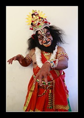 YAKSHAGANA-03 (ramnath bhat) Tags: red vertical ngc gettyimages stockphotography makeupartist yakshagana rawan danceform colorfulface canon5dmarkii ef24105lens indianperformingart