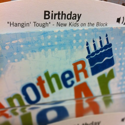 DUDE. A *singing* NKOTB card. Can I buy it even though my birthday is over?