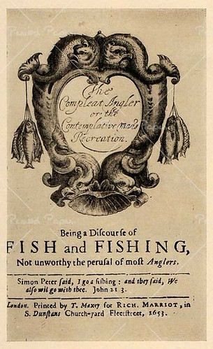 Ttile Page to The Compleat Angler