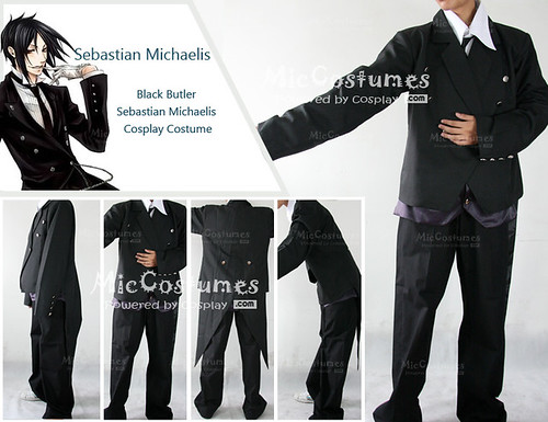 Black Butler Sebastian Michaelis Cosplay Costume - miccostumes model