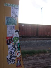combo @ the frieghts (Stay Lit (Kowr Stickers) $/_ (hard times means tra) Tags: streetart art graffiti salad sticker stickerart character stickers trains kicks freighttrains freight graffitiart combo stickercombo stickergraffiti easer stickertrade izer iwillnot oboi sladge iwn ceito brisman cudoe