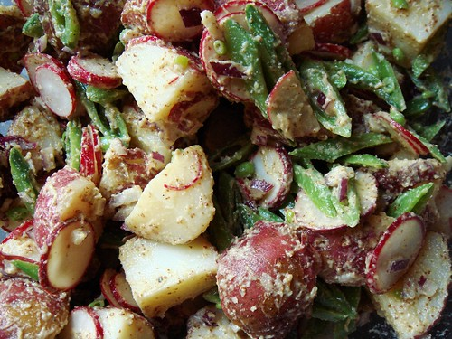 Caesar Potato Salad with Snap Peas