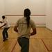 Uma partida de squash