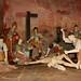 Esculturas em madeira que representam a Via Sacra