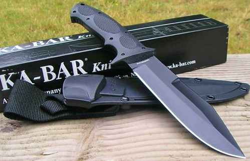 "KA-BAR Bull Dozier 12.13"" AUS8A Overall Fixed Blade with Kraton Inserts"