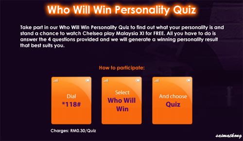 Who Will Win Personality Quiz