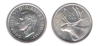 Canadian Twenty-Five Cent Piece