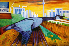 Urban Goose: CN Tower (Tim Noonan) Tags: city railroad urban toronto art paint acrylic shapes vivid manipulation goose canvas imagination canadiangoose shining hypothetical hardedge vividimagination artdigital railwaylands shockofthenew sotn sharingart awardtree trolledproud magiktroll sbfmasterpiece exoticimage sbfgrandmaster netartii donnasmagicalpix