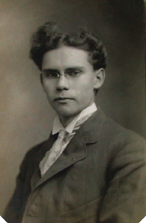 69783c43803f Teen boy with pince-nez + wild hair c 1912 USA postcard (pince nez2008). rimless  hoopspring ...