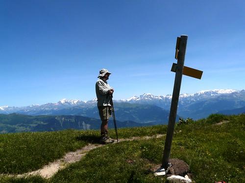 J.Pierre en contemplation au Mont Bellachat 059
