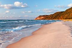 Esch Road Beach 8544-09 (StacyN - MichiganMoments) Tags: beach clouds sand michigan dunes lakemichigan greatlakes empire sleepingbeardunesnationalpark stacyniedzwiecki eschroadbeach ottercreekbeach