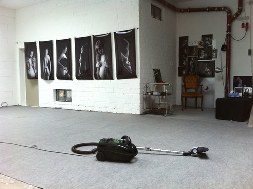 At work in my Studio by Beate Knappe