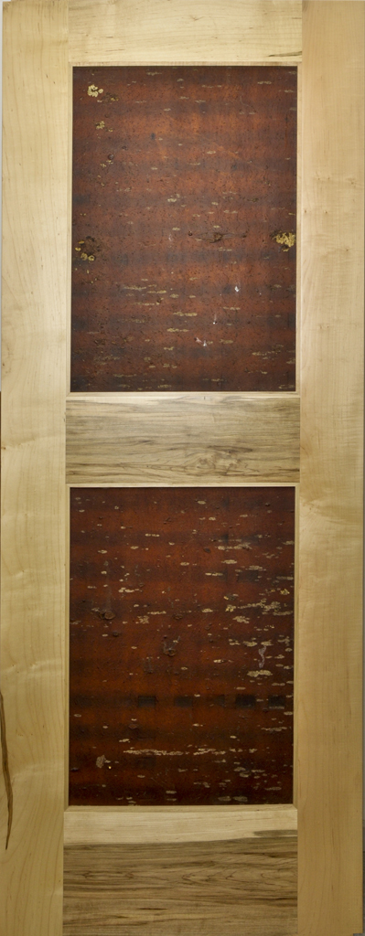 Up North Wood Door of Cherry with North Carolina Pine Bark Panels