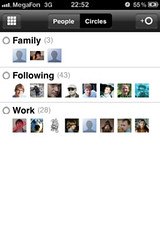 Google+ for iPhone: Circles