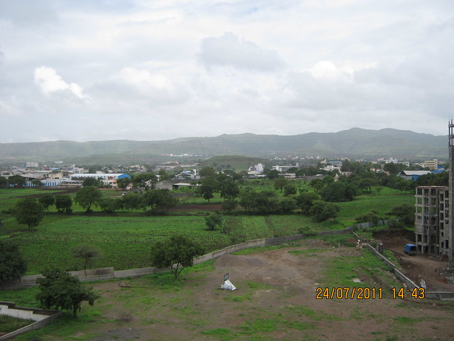 "View of Undri from a Penthouse at Sobha Carnation - on the day of launch of ""Sobha Garnet - 3 BHK & 4 BHK Flats"" - off NIBM Road -  at Kondhwa - Pune"