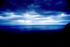 Sky, magical time (Lucia Cortés Tarragó) Tags: blue sea sky landscapes nikon mallorca justclouds