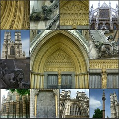 Westminster Abbey collage #1 (dominotic) Tags: street city uk roof england people urban london history church window westminster abbey westminsterabbey collage architecture unitedkingdom gothic royal stonecarving historic monarch princewilliam april2011 may2011 royalpeculiar catherinemiddleton collegiatechurchofstpeteratwestminster dukeandduchessofcambridge