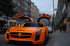 Orange FAB. [EXPLORED] (Richard T Smith) Tags: summer fab orange london matt t mercedes design al nikon smith arab richard thani limited edition rare supercar matte sls qatar supercars lightroom d60 2011 althani