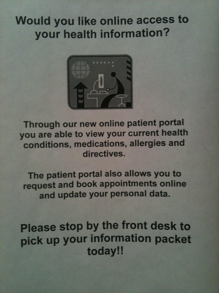 A good sign: online patient portal