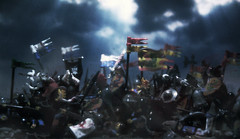 Kingdom of War (Shobrick) Tags: light religious war heaven lego kingdom flags medieval knights age rays middle custom swords battles shobrick